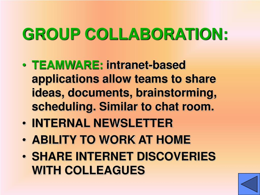 GROUP COLLABORATION:
