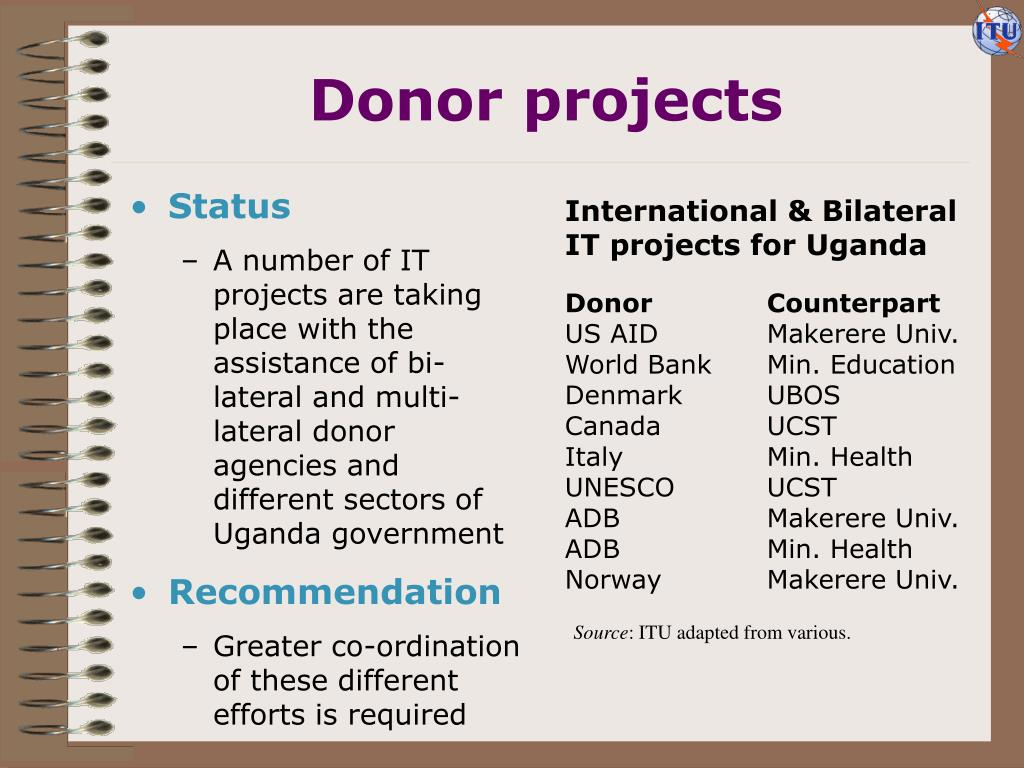 Donor projects