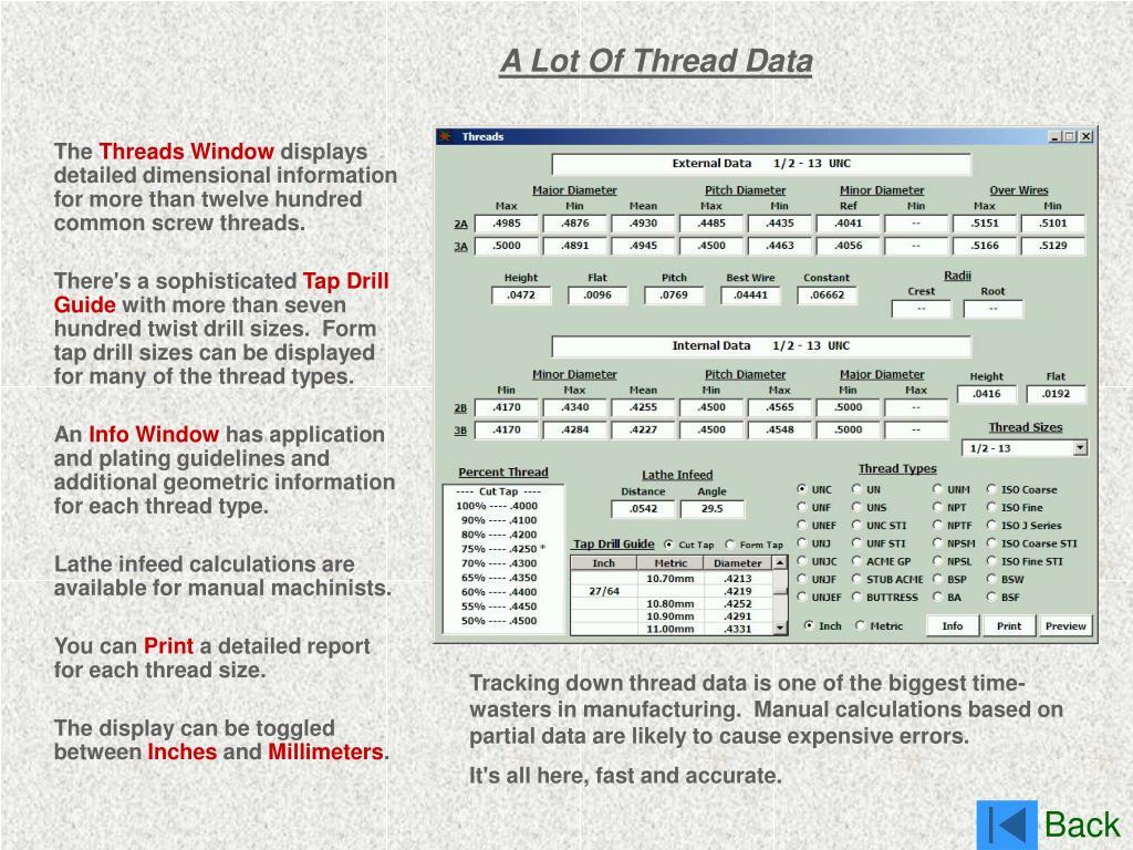 A Lot Of Thread Data