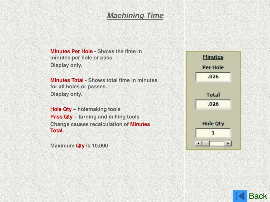 Machining Time