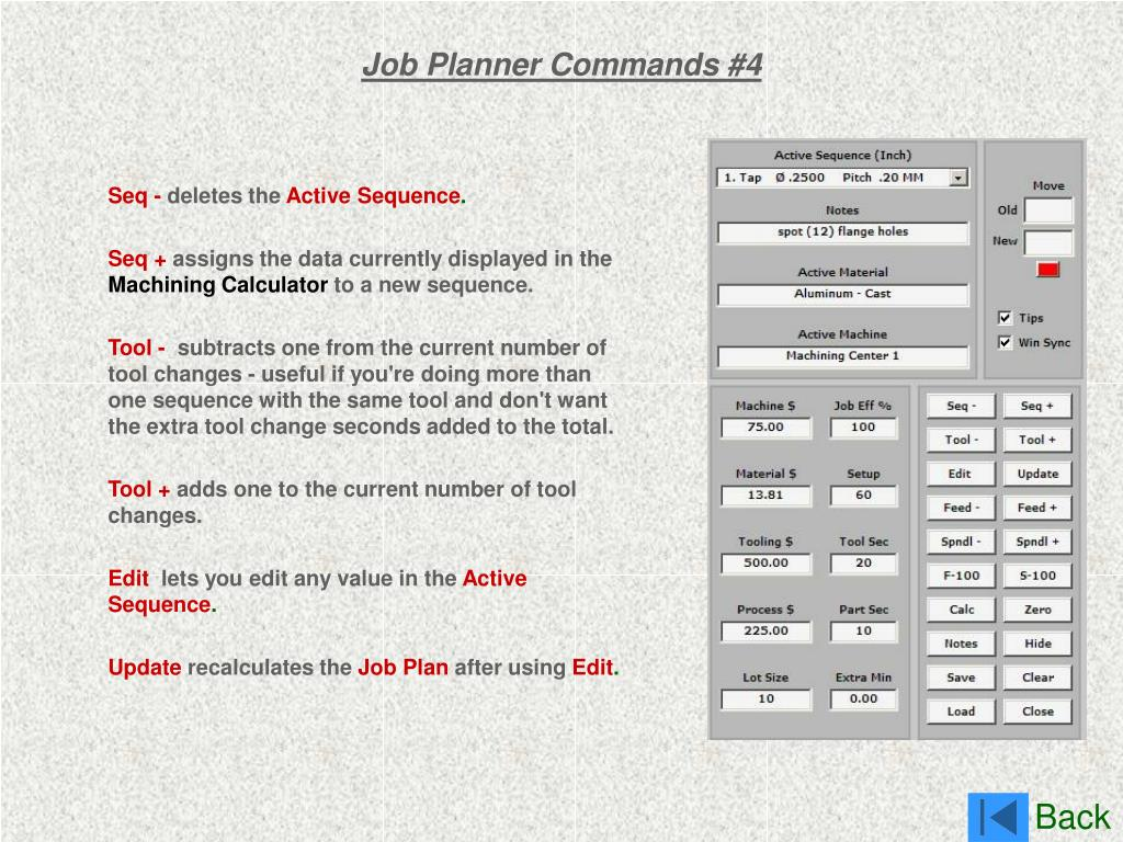 Job Planner Commands #4