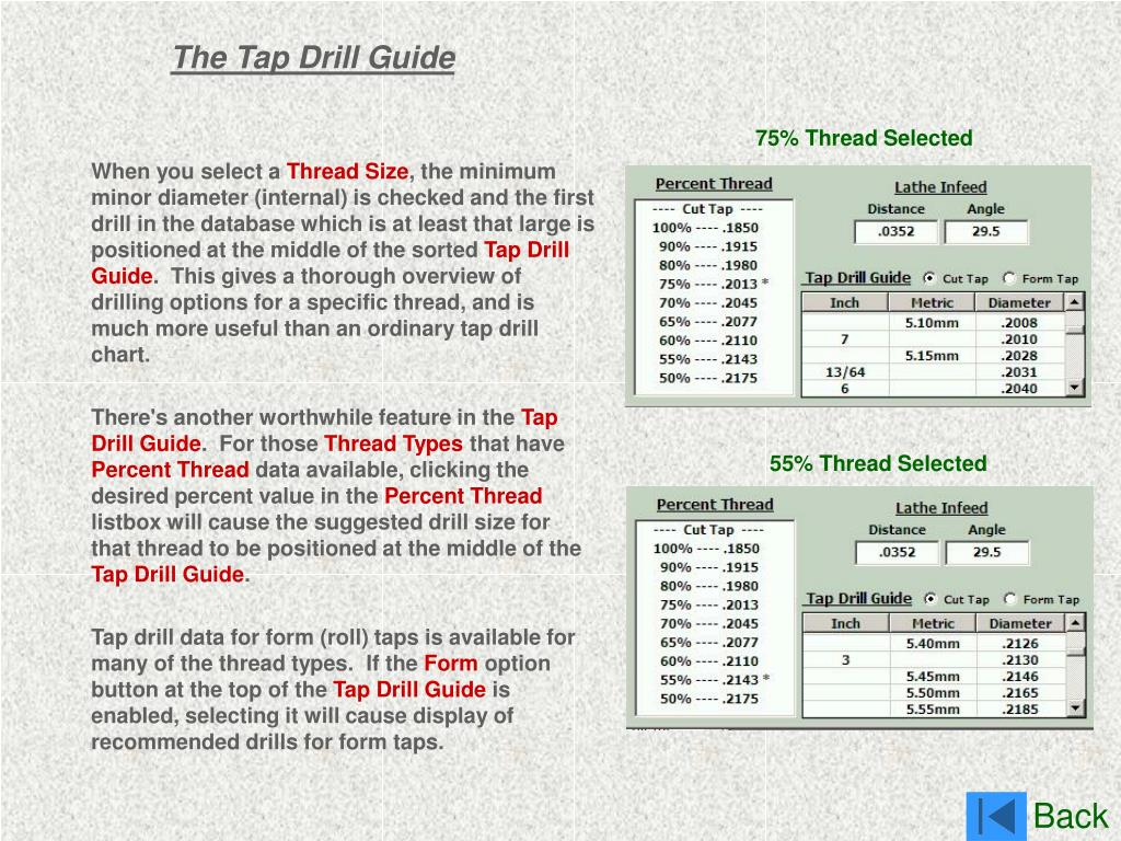 The Tap Drill Guide