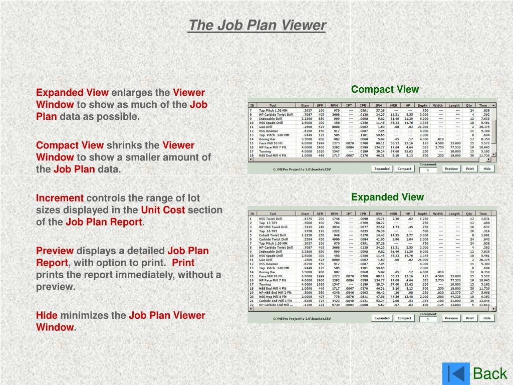 The Job Plan Viewer