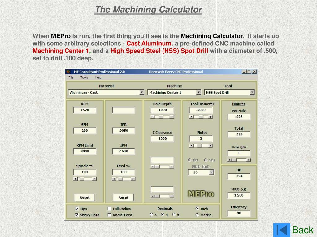 The Machining Calculator