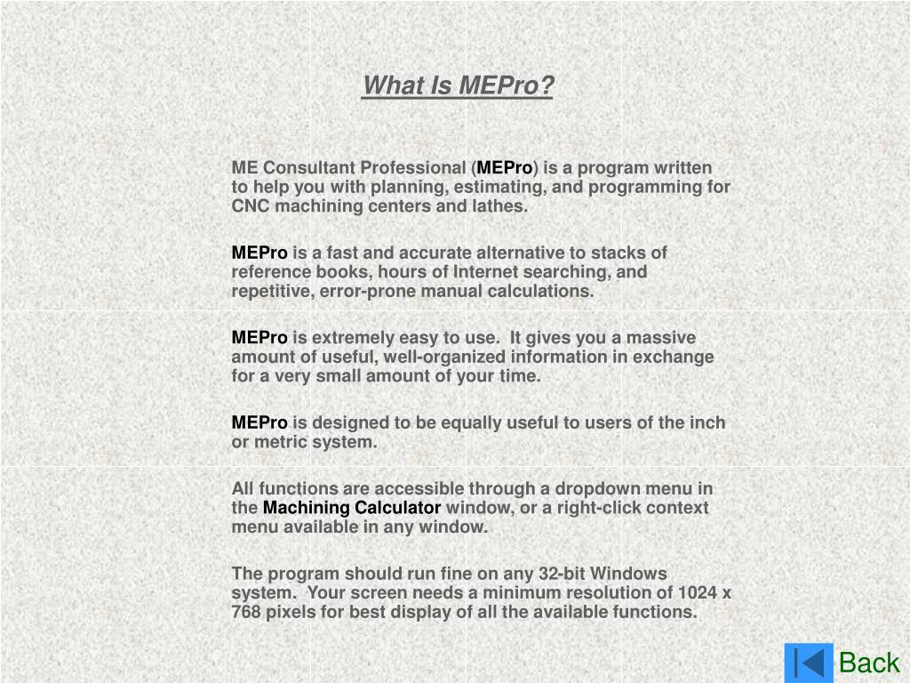 What Is MEPro?