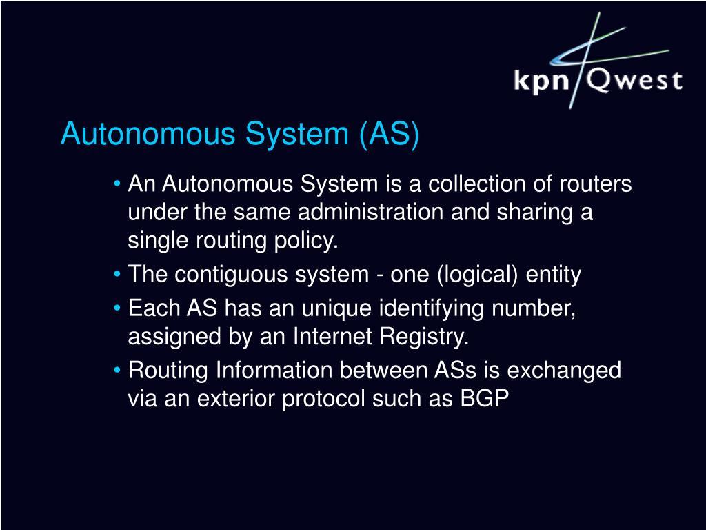 Autonomous System (AS)