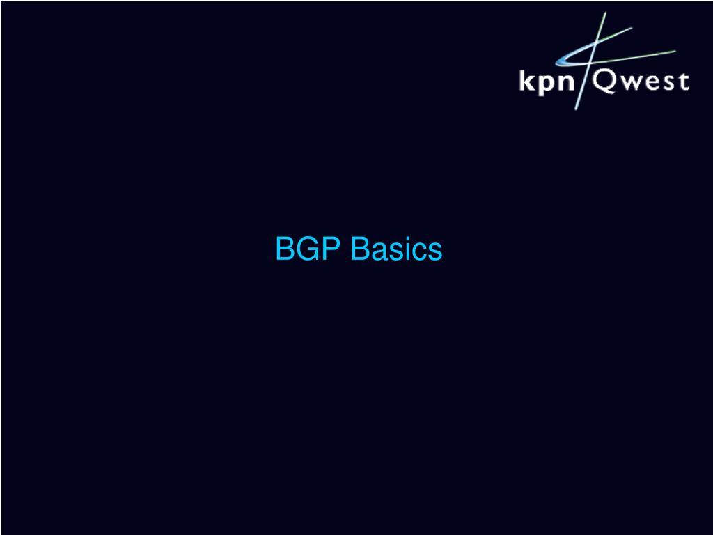 BGP Basics
