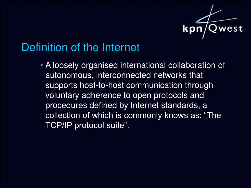 Definition of the Internet