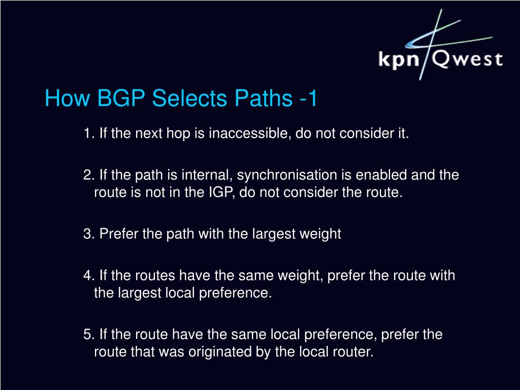How BGP Selects Paths -1
