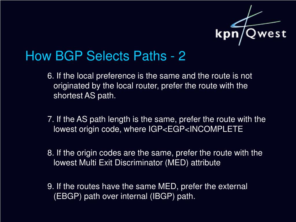 How BGP Selects Paths - 2