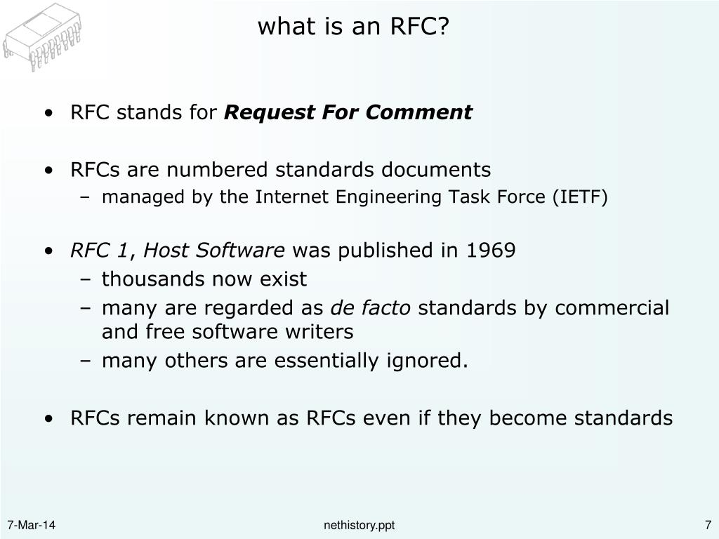 what is an RFC?
