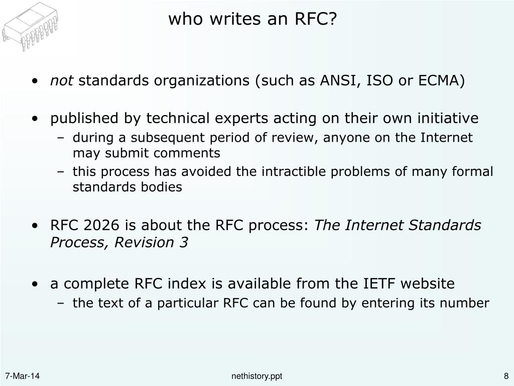who writes an RFC?