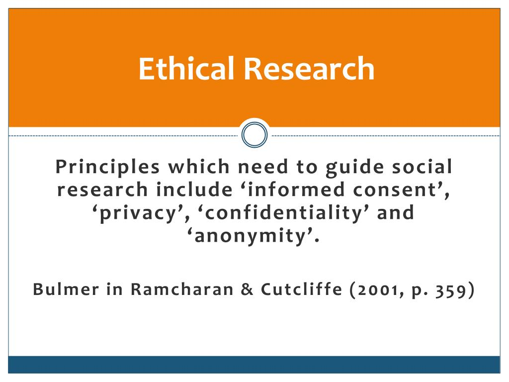 Ethical Research
