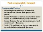 post structuralist feminist19