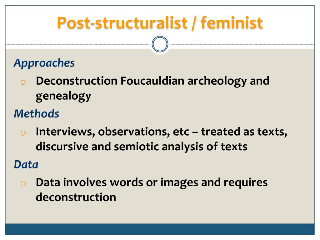 Post-structuralist / feminist