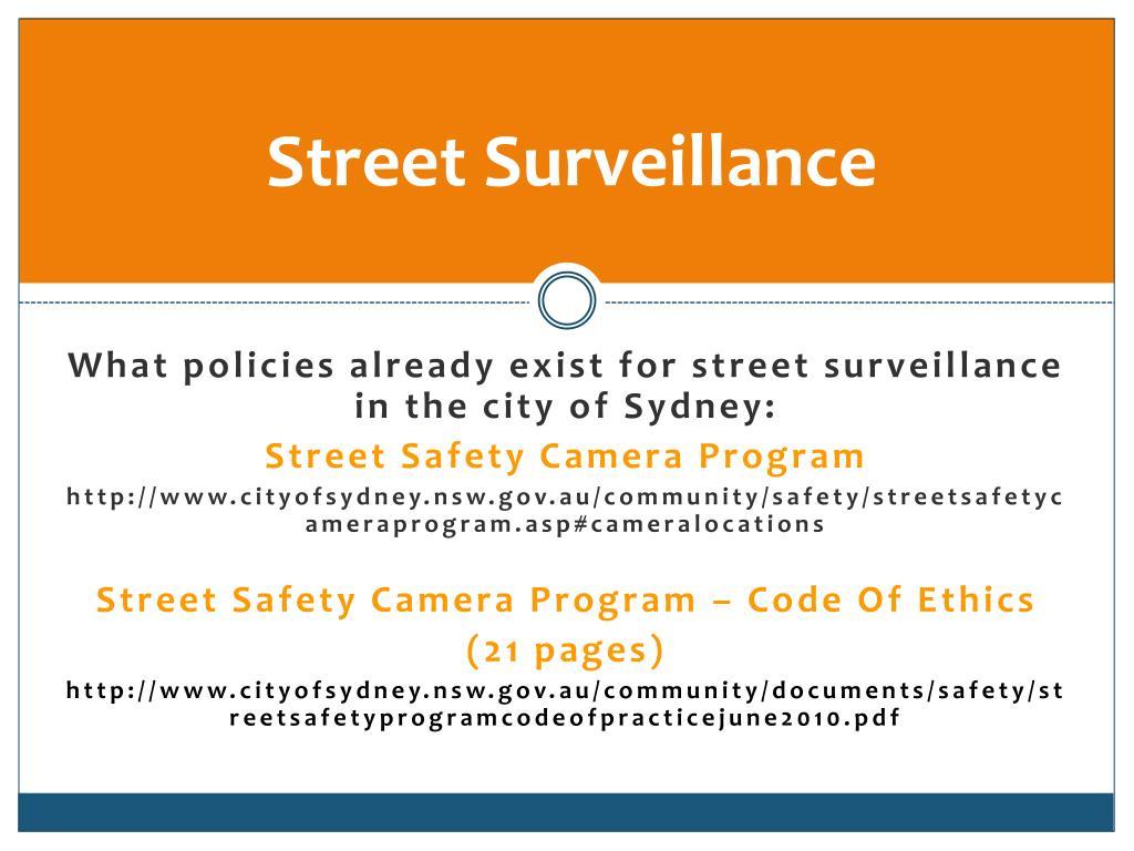 Street Surveillance