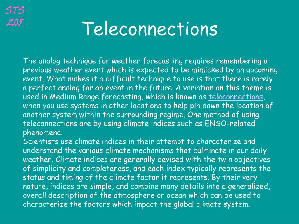 Teleconnections