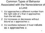 common types of behavior associated with the nonexistence of a limit