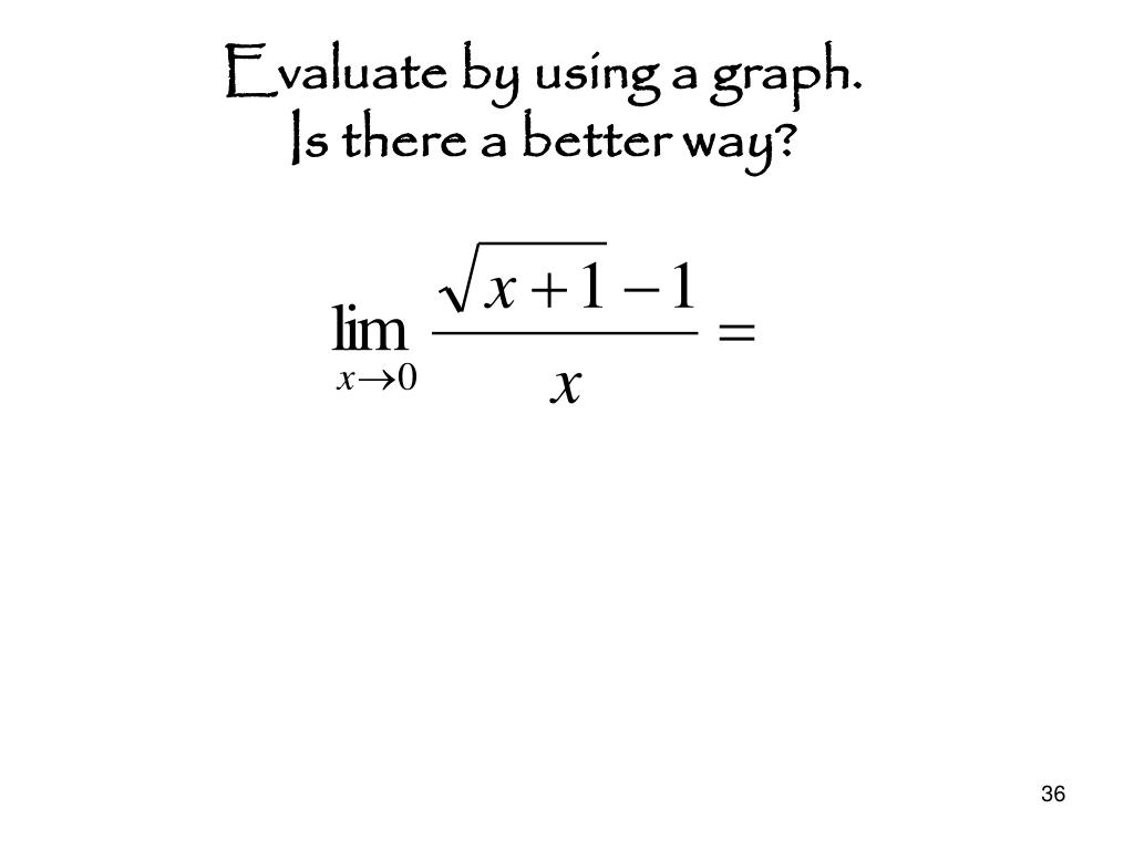 Evaluate by using a graph.