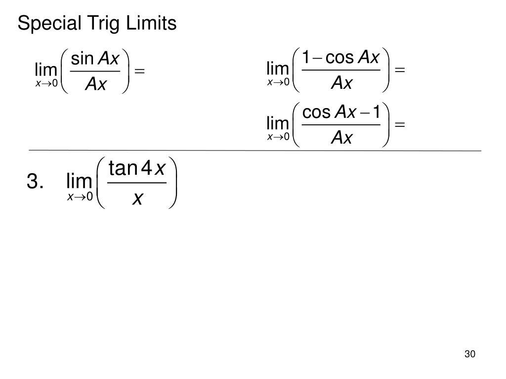 Special Trig Limits