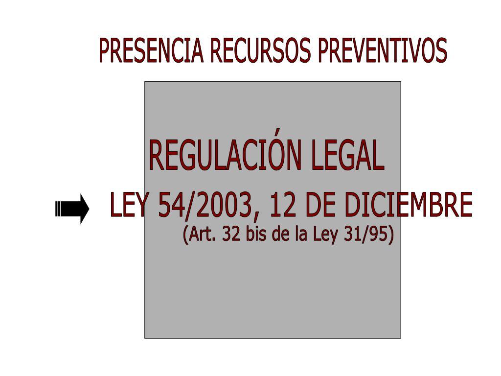 PRESENCIA RECURSOS PREVENTIVOS