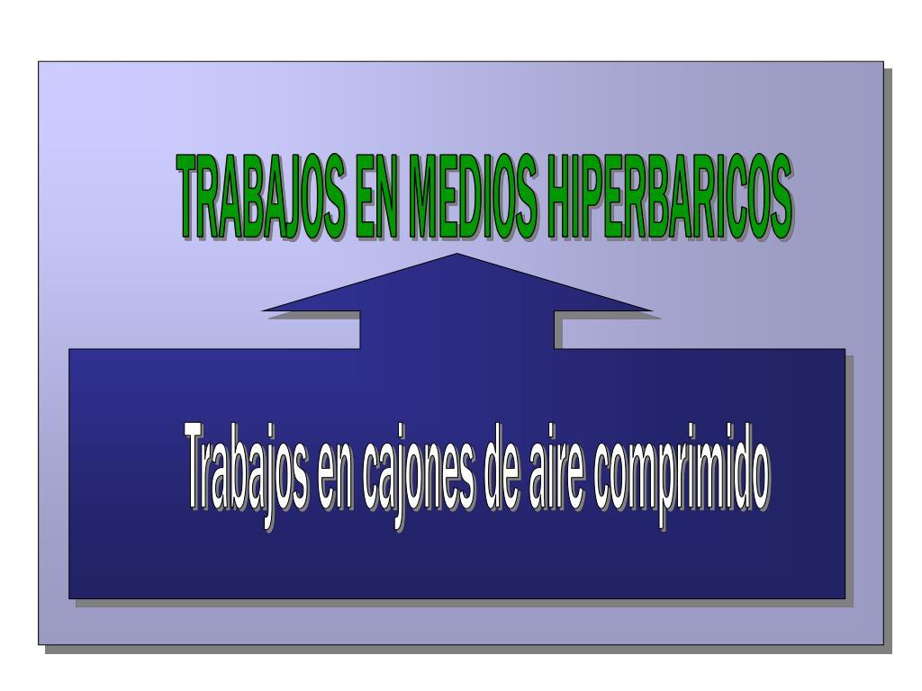 TRABAJOS EN MEDIOS HIPERBARICOS