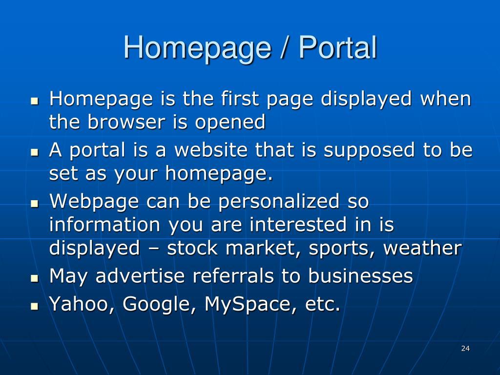 Homepage / Portal