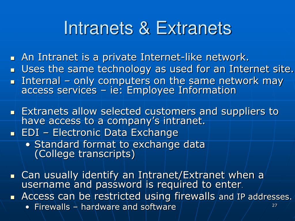 Intranets & Extranets