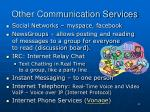 other communication services