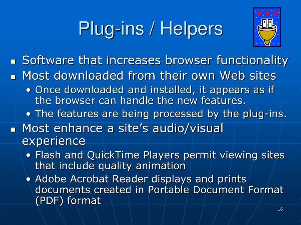 Plug-ins / Helpers