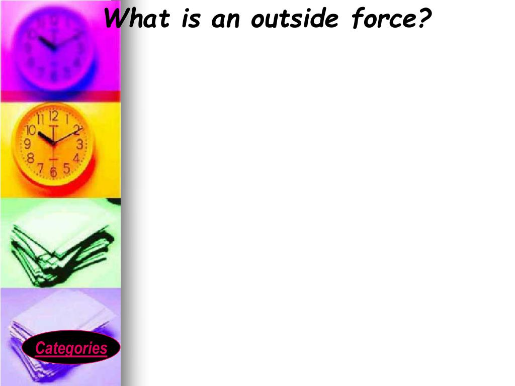 What is an outside force?