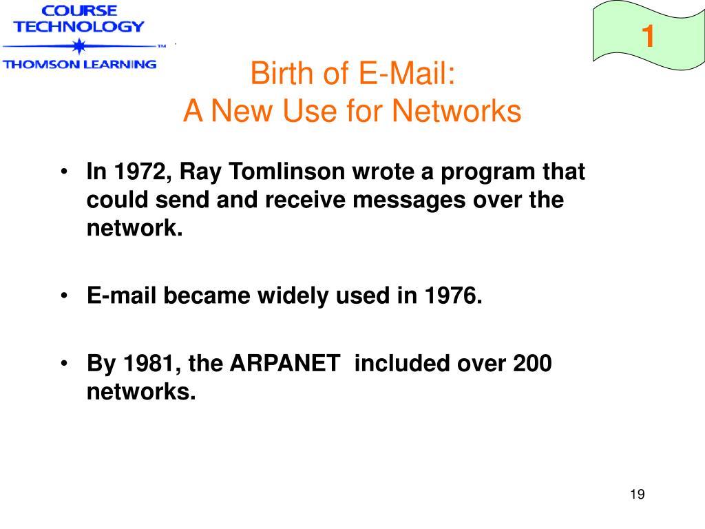 Birth of E-Mail: