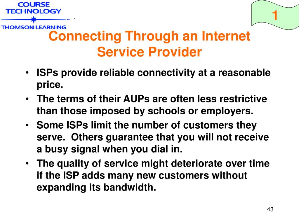 Connecting Through an Internet Service Provider