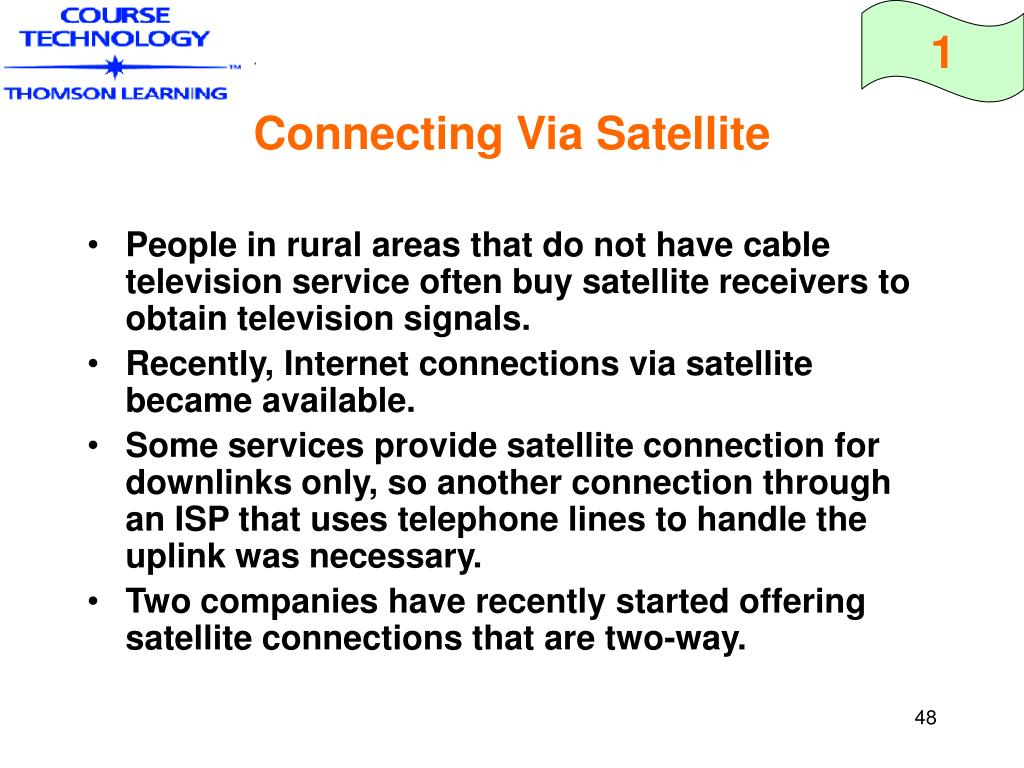 Connecting Via Satellite
