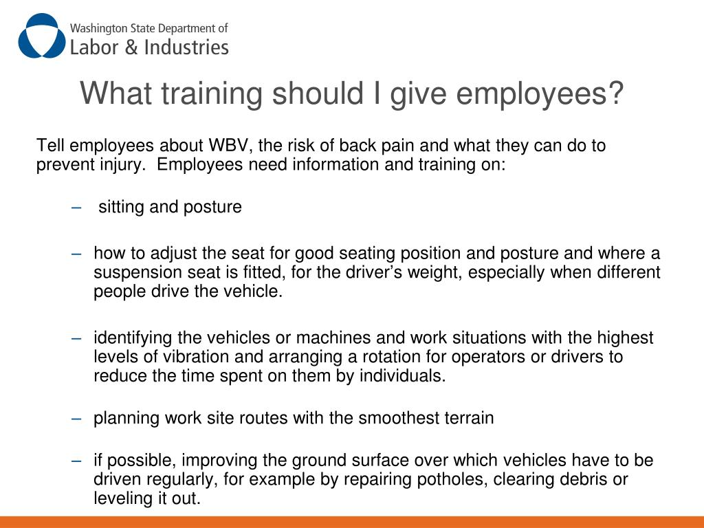 What training should I give employees?