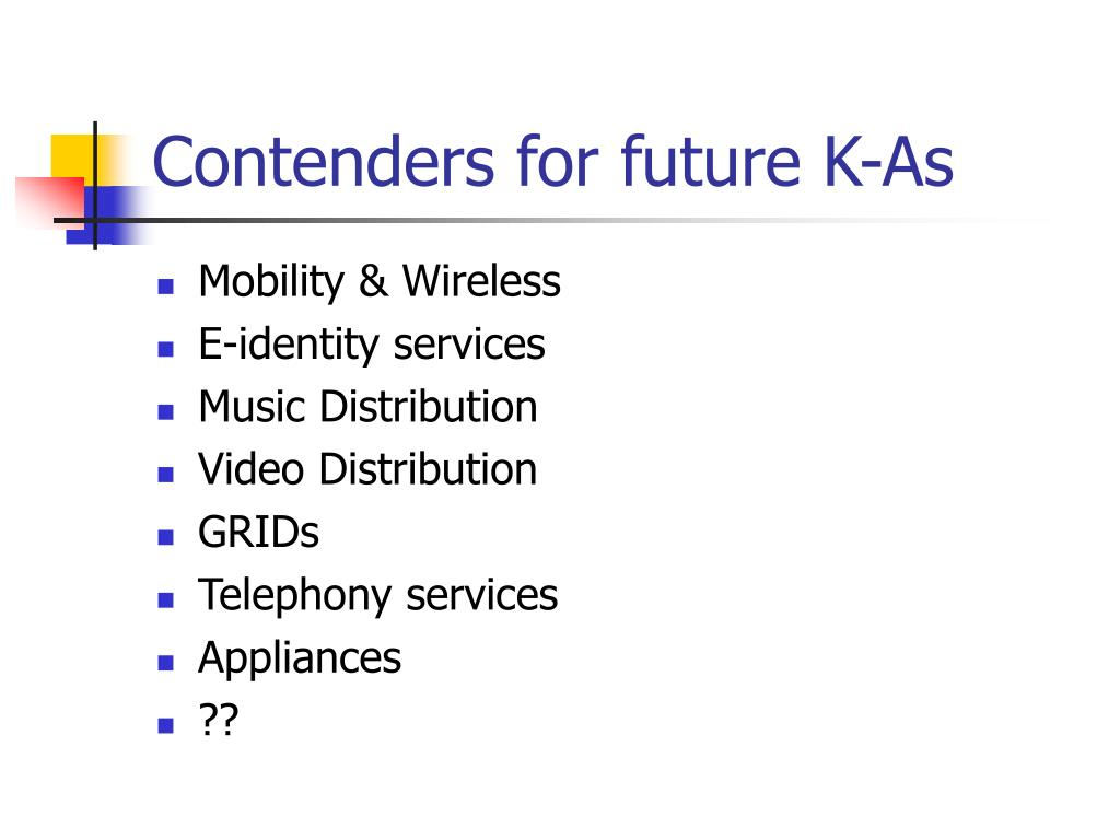 Contenders for future K-As