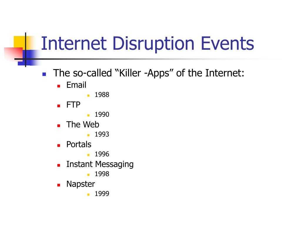 Internet Disruption Events
