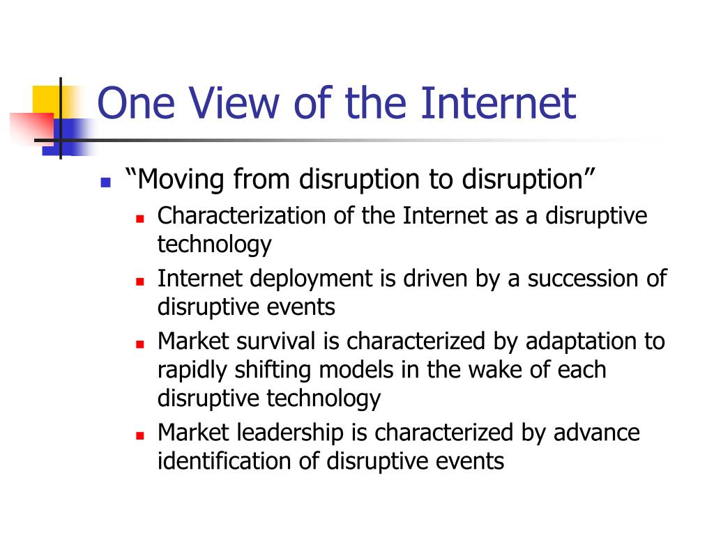 One View of the Internet