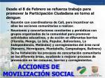acciones de movilizaci n social