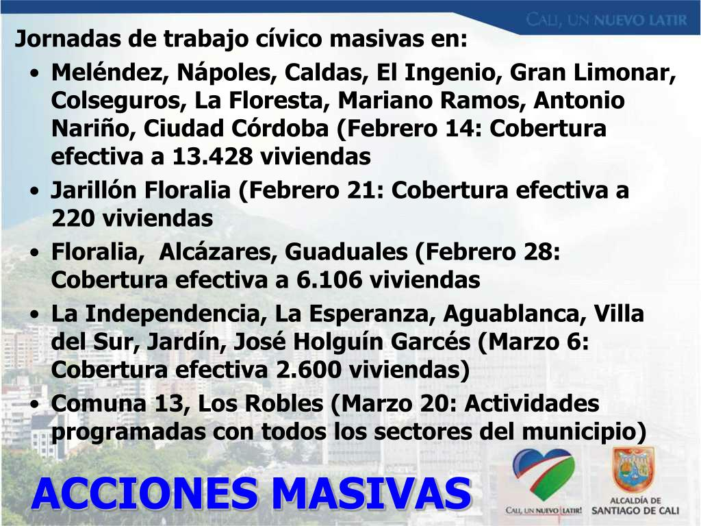 ACCIONES MASIVAS
