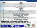 control vectorial