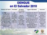 dengue en el salvador 2010