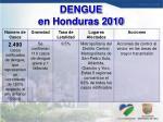 dengue en honduras 2010