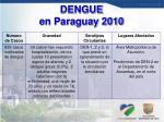 dengue en paraguay 2010