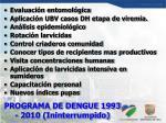programa de dengue 1993 2010 ininterrumpido