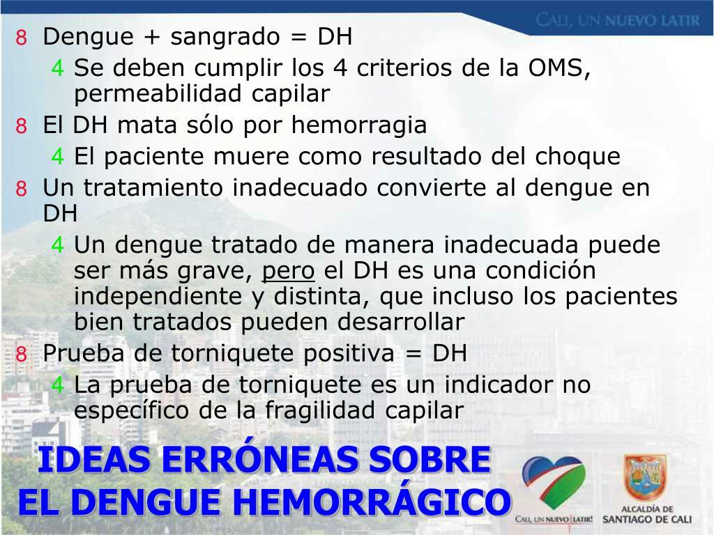 Dengue + sangrado = DH