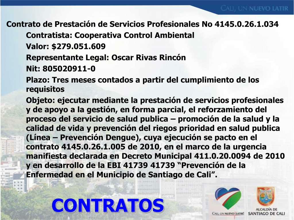 Contrato de Prestación de Servicios Profesionales No 4145.0.26.1.034