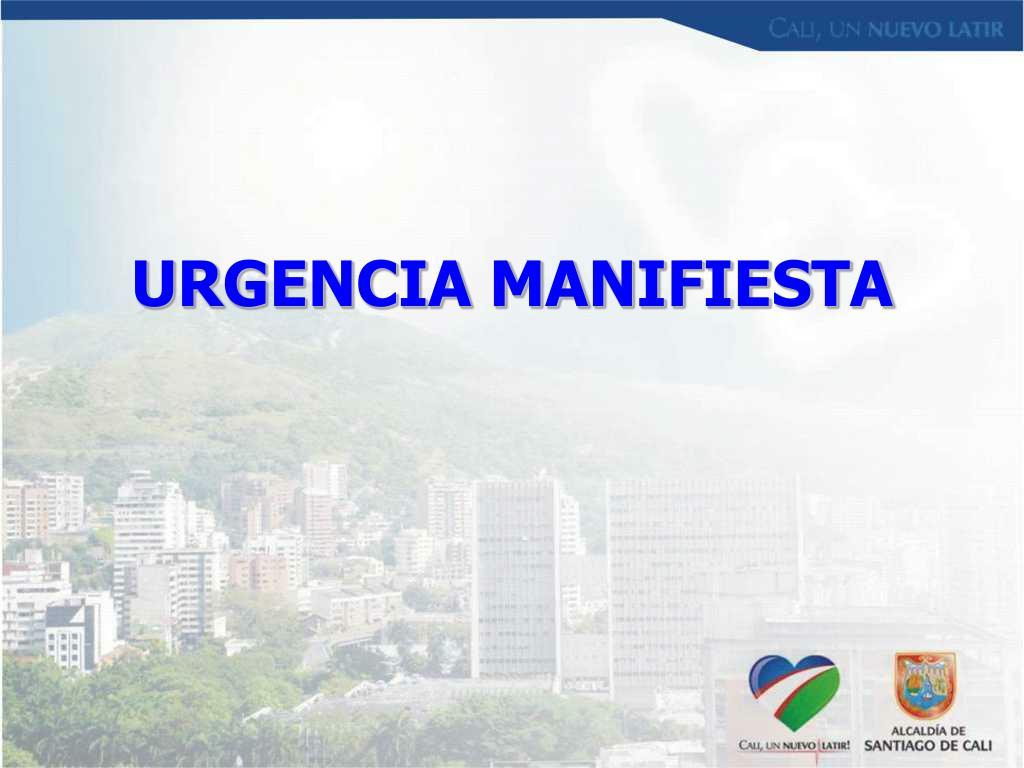 URGENCIA MANIFIESTA
