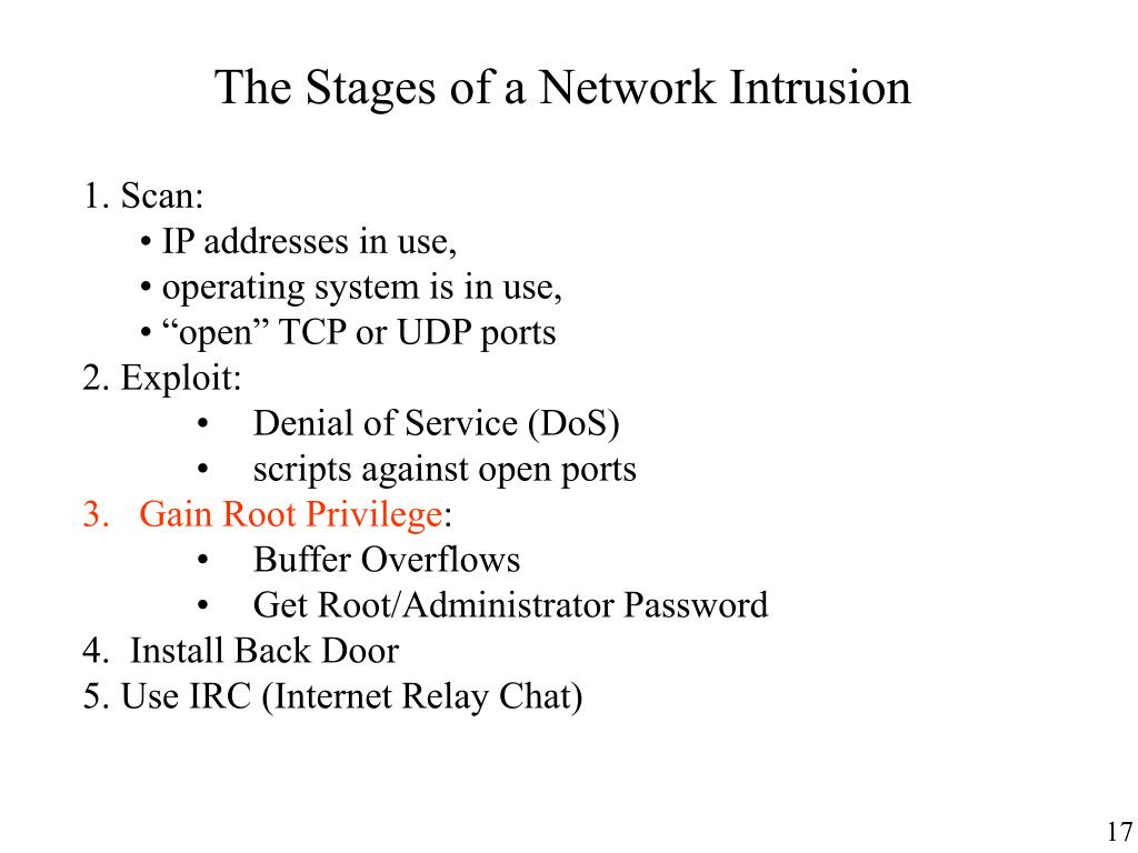 The Stages of a Network Intrusion