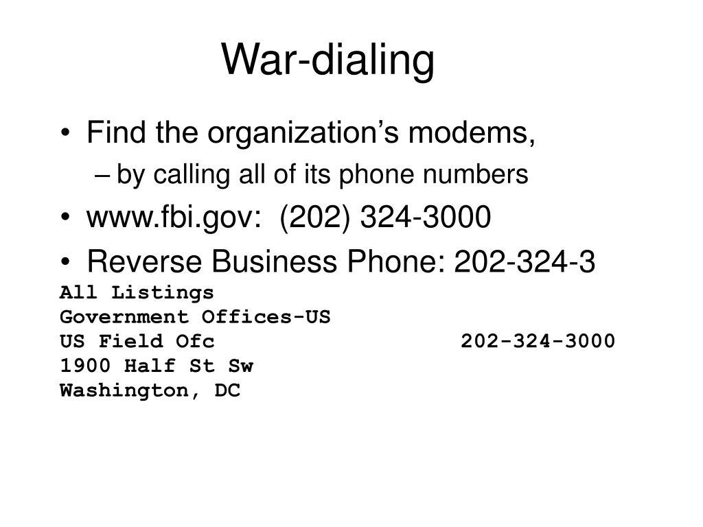 War-dialing
